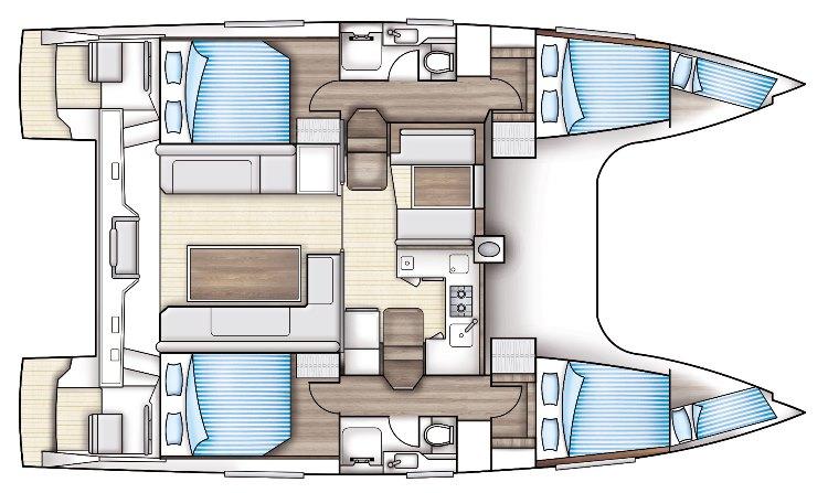 Nautitech 40 open layout
