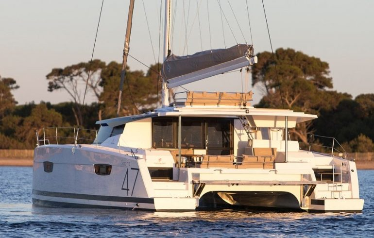 Aft deck of Saona 47 in Croatia
