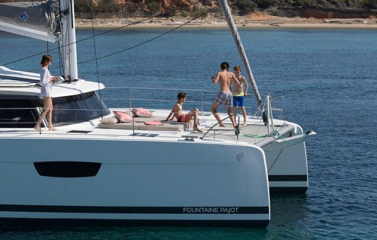 Enjoying Saona 47 at Adriatic sea
