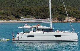 Saona 47 sailing in Croatia