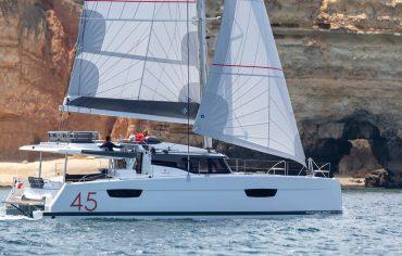 Catamaran elba 45 sailing in Croatia