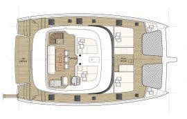Upper deck layout of Sunreef 50