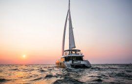 Sunreef 50 sailing at Adriatic sea