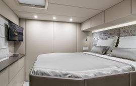 Cabin for charter guests on Sunreef 50