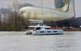 Aft deck of lagoon 55 catamaran
