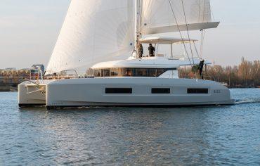 Lagoon 55 sailing at sea