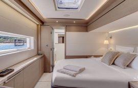 VIPguest cabin in starboard hull of Lagoon Seventy 7