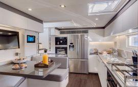 Fully stocked kitchen of Lagoon 77