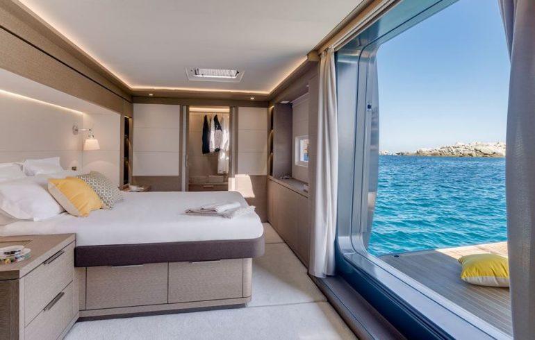 Balcony in master cabin on Lagoon Seventy 7
