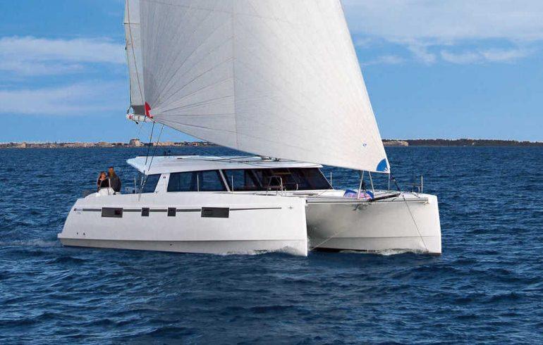 Genaker sail on Nautitech 46 open