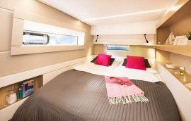 guest cabin on nautitech 46 catamaran