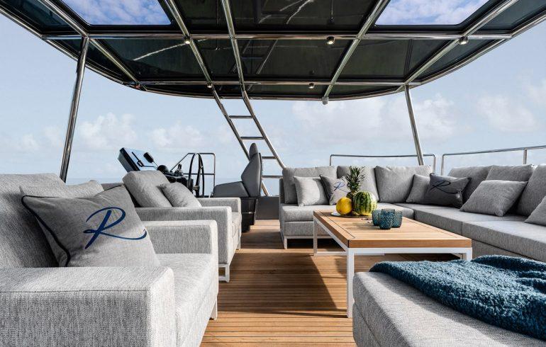 Upper deck of Sunreef 60