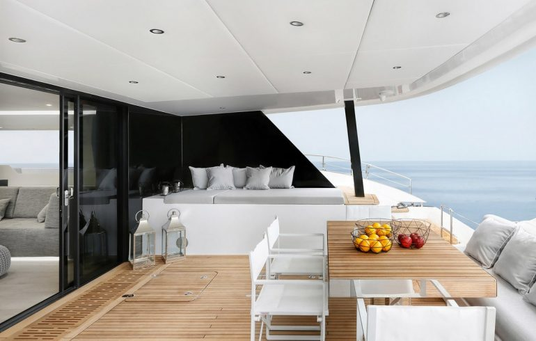 Aft deck of Sunreef 60