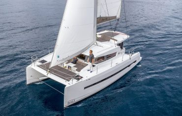 Bali 4.0 sailing with fully open sails in Croatia