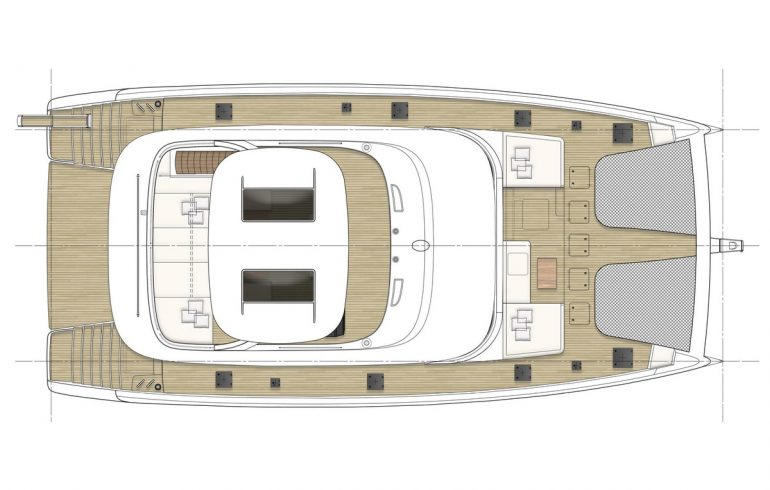 exterior layout for catamaran sunreef 80